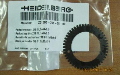 Heidelberg после печатное оборудование Перфорационный нож ZD_200-756-05-00